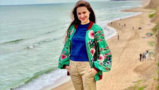 Экс-жена Дзидзьо путешествует по Украине: куда SLAVIA отправилась после развода с артистом