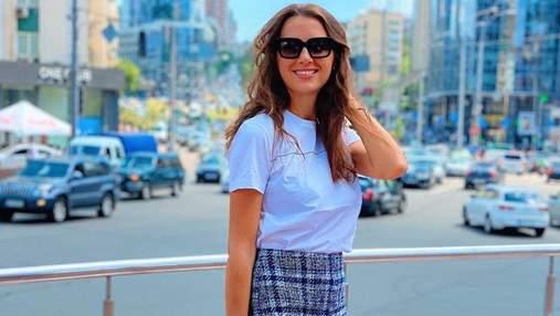 Дружина Григорія Решетника показала стильний образ: фото з прогулянки Києвом