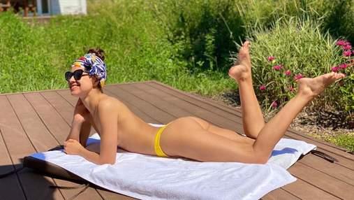 Ексдружина Дзідзьо позасмагала топлес: еротичне фото без бюстгальтера