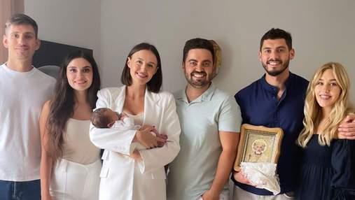 Даша Квіткова та Нікіта Добринін охрестили сина: зворушливі кадри