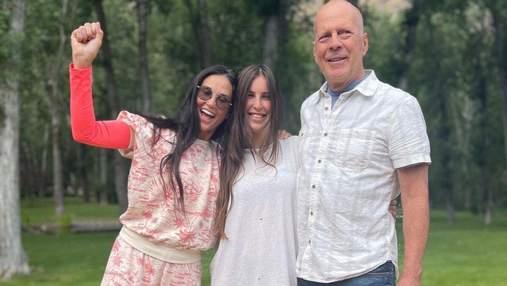 Донька Брюса Вілліса та Демі Мур яскраво відсвяткувала 30-річчя з батьками