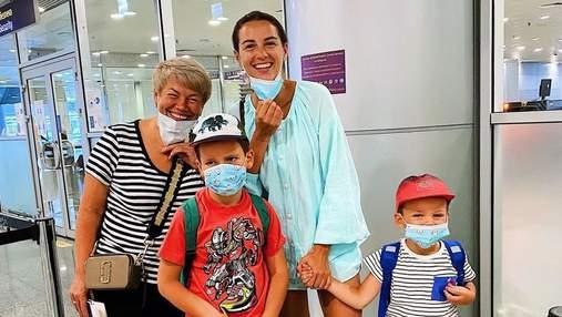 Христина Решетник показала, як сини проводять канікули з бабусею та дідусем: фото