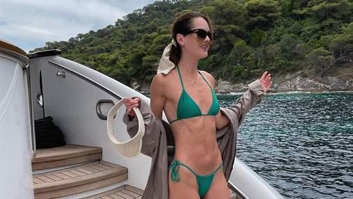 Міс Україна Олеся Стефанко засвітила підтягнуте тіло в бікіні: фото на яхті