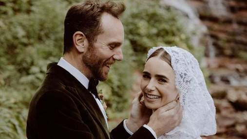 """Зірка серіалу """"Емілі в Парижі"""" Лілі Коллінз вийшла заміж: казкові фото з весілля"""