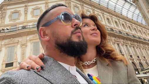 Монатик с женой полетел в Италию: фото романтического уикенда