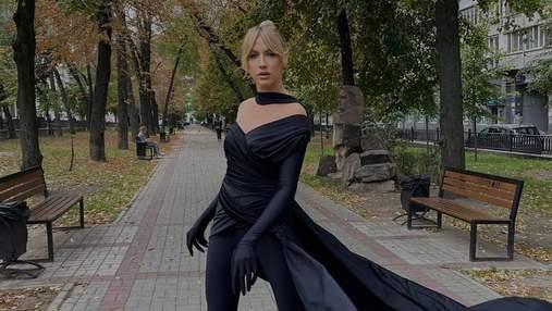 Леся Никитюк повторила образ Кардашян: фото в костюме total black и неоднозначная реакция фанов