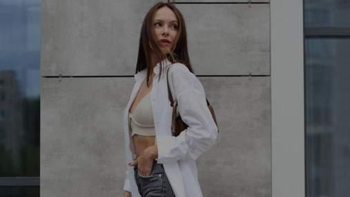 Дружина Володимира Остапчука показала осінній образ: фото в джинсах і сорочці