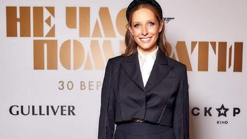 Катя Осадчая в модном смокинге и другие звезды на премьере нового фильма о Джеймсе Бонде