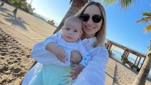 Катерина Реп'яхова показала нові фото з сином від Віктора Павліка