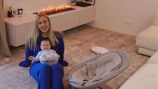 Даша Квиткова показала атмосферный домашний образ: фото с сыном