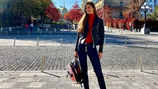 Дружина Дмитра Комарова показала повсякденний осінній образ: чарівне фото з Дніпра